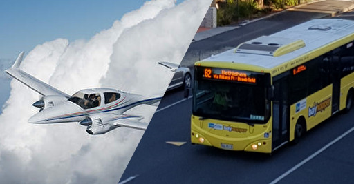 DA42 Aircraft and Bus